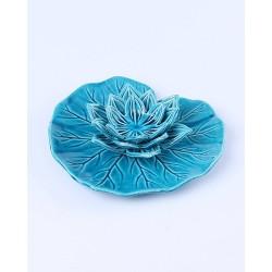 seramik-turkuaz-dekoratif-nilufer-mumluk-22-cm